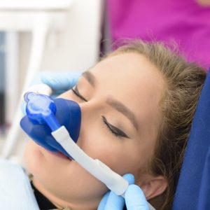 woman receiving sedation